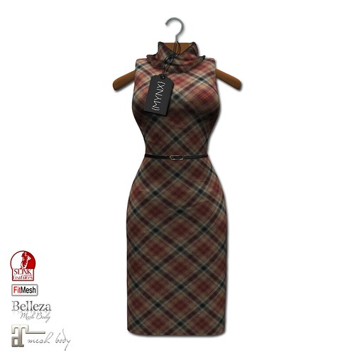 {MYNX} Cowl Neck Tank Dress - Plaid