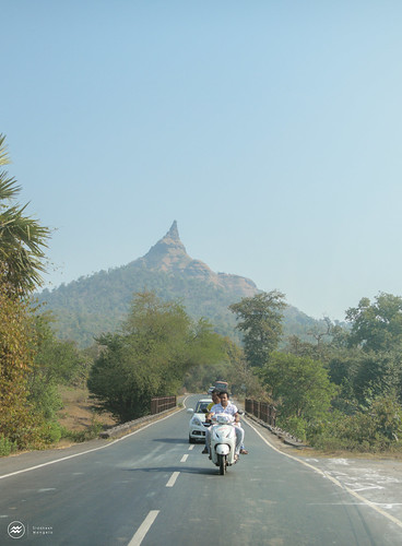 cone green mountains niddle road traffic mountain rock