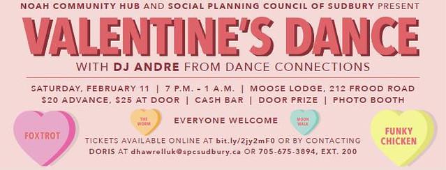 Noah Community Hub (NCH) - Valentine Dance February 11, 2016