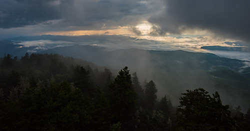 mount mt sterling great smoky mountains national park gsmnp smokys forest fog clouds mountain hiking landscape southeast north carolina nc benton mckaye at appalachian trail sunrise fire tower nikon d810 cataloochee