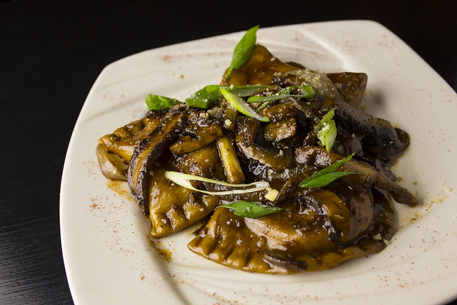 Pierogies w/ Sauteed Onions, Musrooms, Garlic, and Worcestershire- The Dancing Fig