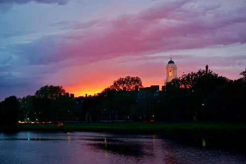 cambridge sunset sky weather boston clouds massachusetts harvard charlesriver newengland pw weeksfootbridge