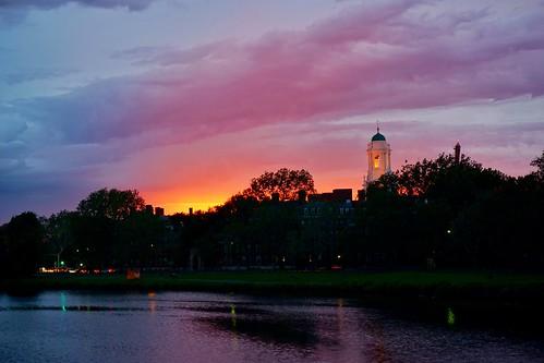 cambridge sunset sky weather boston clouds massachusetts harvard charlesriver newengland pw weeksfootbridge