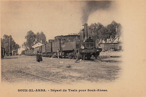 Tunisia Railways - SOUK EL ARBA - Départ du train pour Souk-Ahras | by HISTORICAL RAILWAY IMAGES