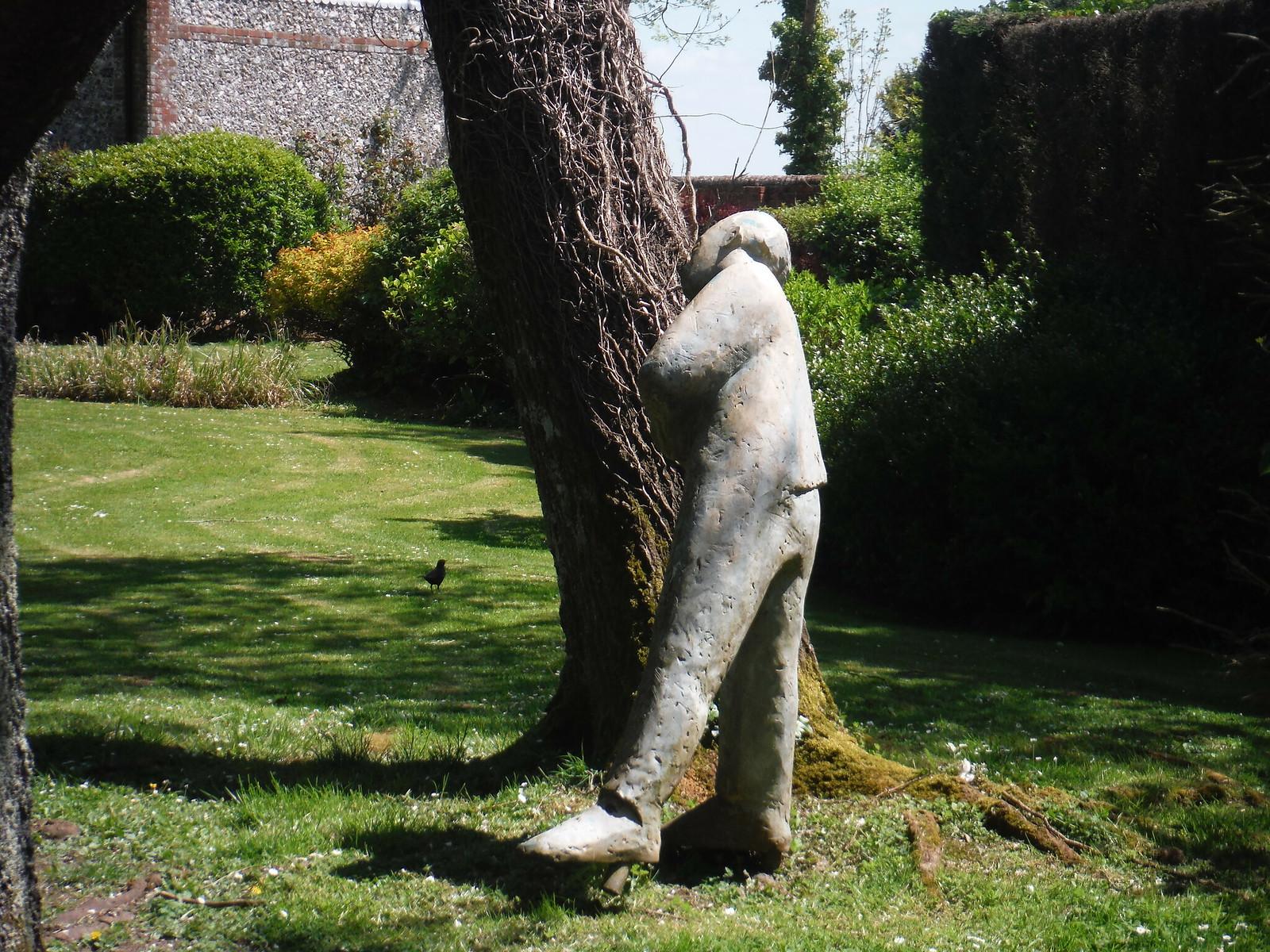 Sculpture in Garden of House, Up Marden SWC Walk Rowlands Castle Circular