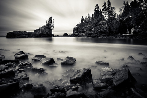 blackandwhite bw canada monochrome mono harbor rocks long exposure novascotia harbour tide 2015 baxtersharbour cans2s fujixe2