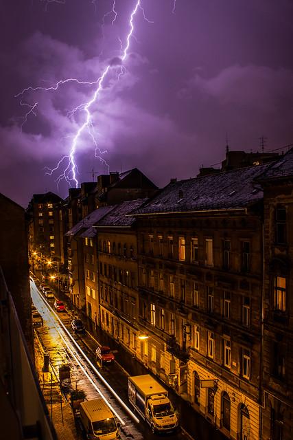 Storm from my balcony