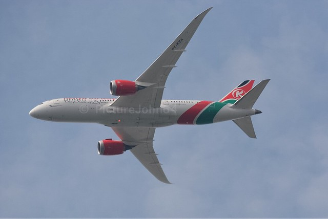 KQ117 Kenya Airways Boeing 788 Dreamliner (5Y-KZA) from Nairobi to Schiphol Amsterdam