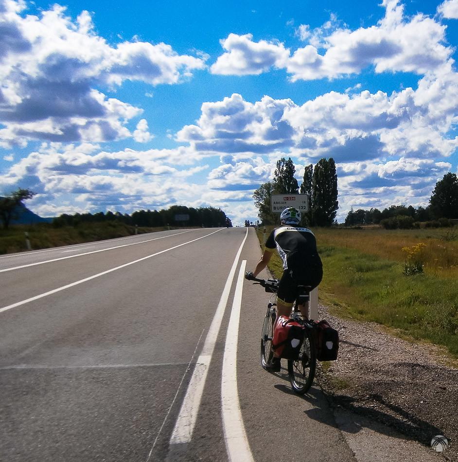 Salida de Soria por la nacional hacia Burgos