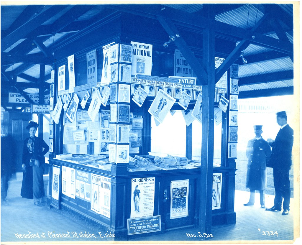 Newsstand at Pleasant Street Station, eastside | Title: News… | Flickr