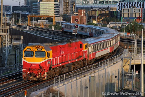 N474 with #8133 down Bacchus Marsh V/line pass near Nth Melbourne (18/5/2015). | by Bradley Matthews Photography