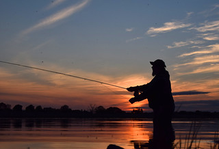Fly fishing at sunset | by Bob A Fox