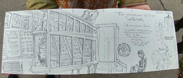 Silk Museum Tbilissi sketched by Ulrika Bohnet