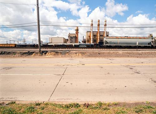 railroad landscape industrial factory kodak michigan detroit trains dearborn ektar mamiyam645 newtopographics kodakektar aksteel fordrouge