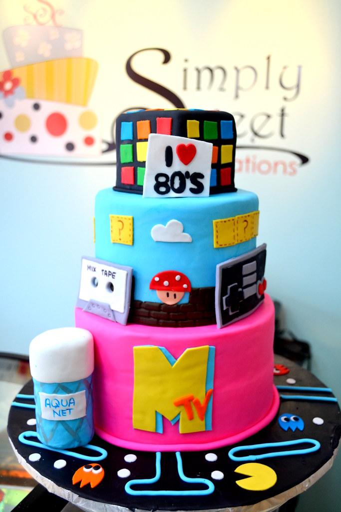Fabulous 80S Birthday Cake Simply Sweet Creations Flickr Funny Birthday Cards Online Elaedamsfinfo