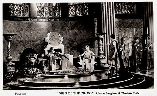 Charles Laughton and Claudette Colbert in The Sign of the Cross (1932)