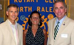 PDG Matt Kane with Jeanne Tedrow and Club President Scott Tarkenton.