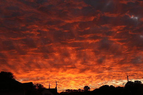 sunset sky orange silhouette clouds evening glow sundown southcarolina columbia ember