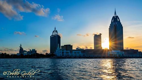 cruise sunset skyline architecture maritime transportation mobilebay escc nikond700 camerasouth debbiegodard