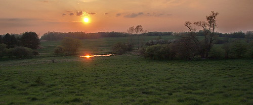 road sunset spring pond bell michigan greenfields kentcounty