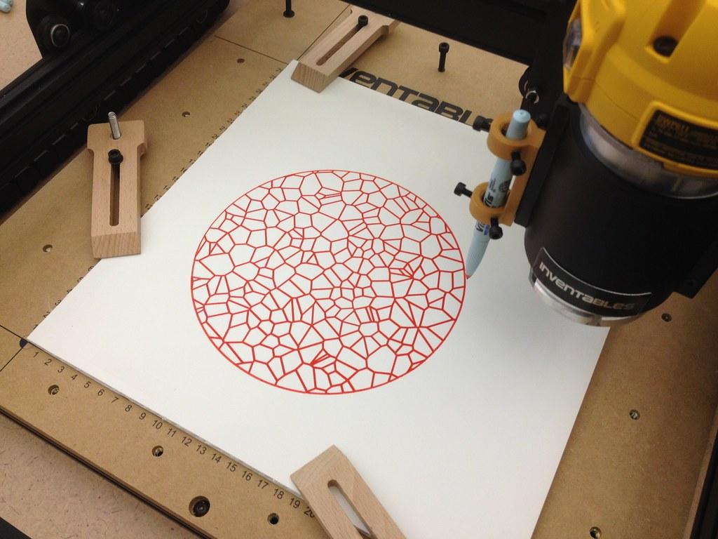 X-Carve - Pen on Foam Core | www flcinnovation org/x-carve-a