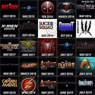 Check out the #marvel #dc #movies coming soon  #heroes #co