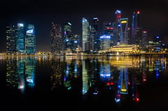 City Night Lights - Marina Bay