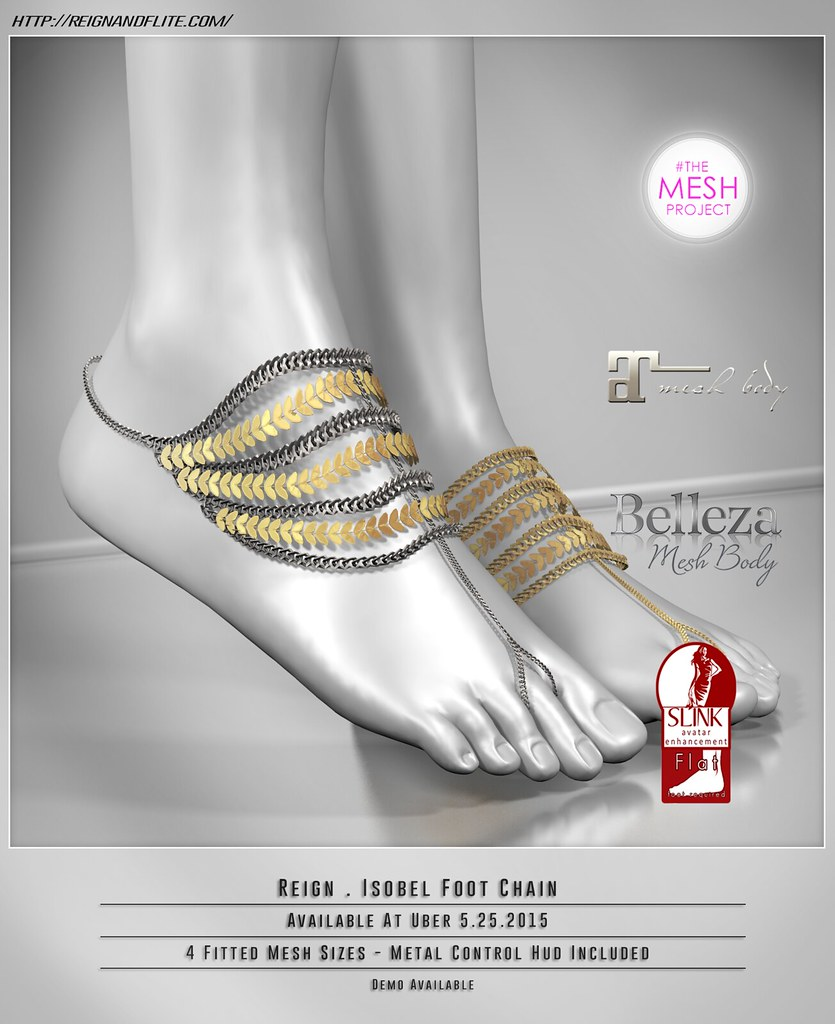 REIGN - ISOBEL FOOT CHAINS | AVAILABLE @ UBER 5/25! Comes wi