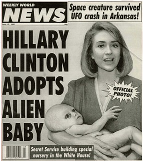 Hillary Clinton Adopts Alien Baby - Official Photo   by swanksalot