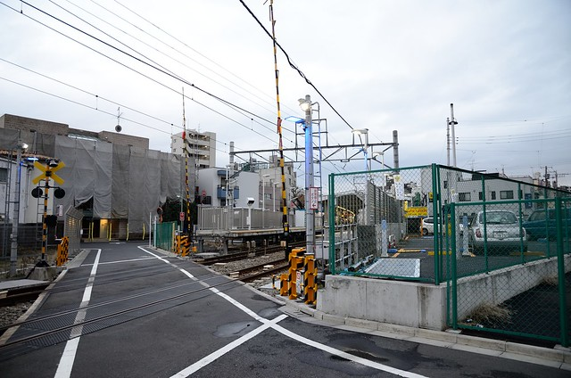 New Railroad Crossing at Togoshi-koen Station