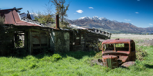 old mountains building abandoned truck farm rusty dilapidated kinlock