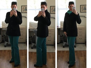 Teal jeans 1   by saashka
