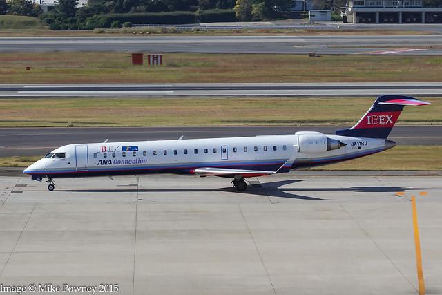 JA11RJ - 2015 build Bombardier CRJ700ER NG, shortly after arrival at Itami