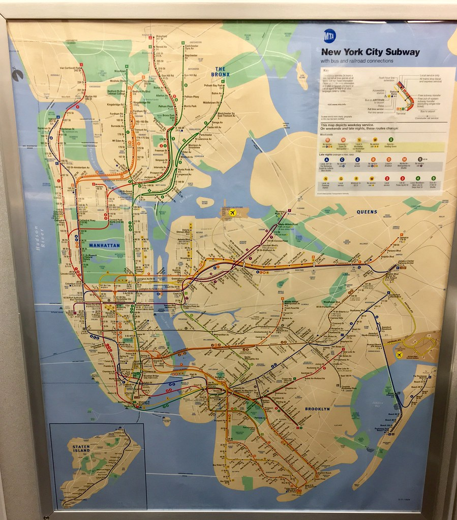 Nyc Subway Map With Second Avenue.New York Subway Map With New Second Ave Subway Feb17 Flickr