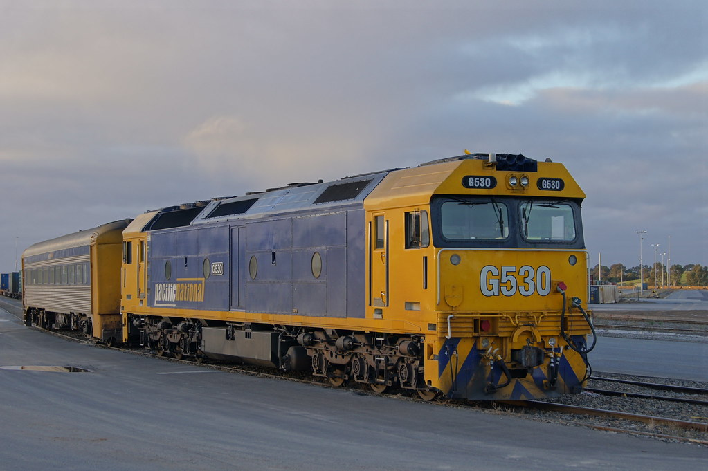 G530 & crew car stabled at Islington freight terminal by Danny Brown