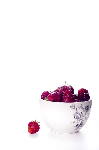 Strawberries in a Bowl, isolate
