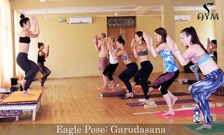 eagle pose garudasana  eagle pose garudasana in yoga 1…  flickr