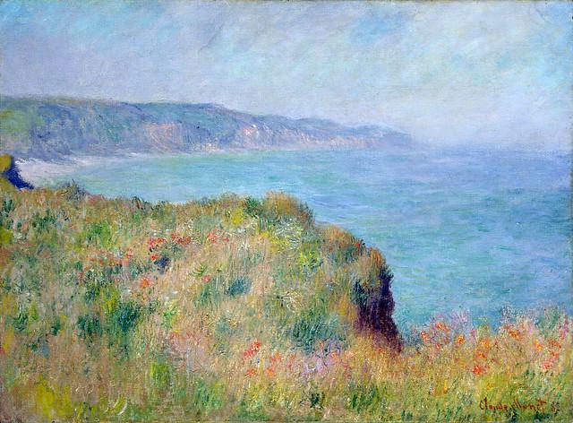 W 752  Claude Monet - Bord de la falaise à Pourville [1882]