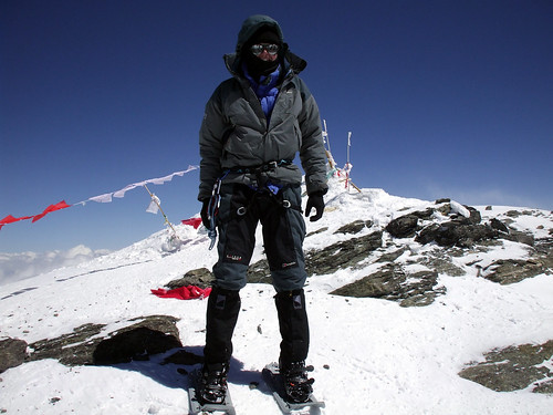 Me at 7546m on the summit of Muztag Ata (Photo: Juliet Edwards) | by markhorrell