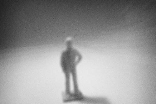Blurred figure