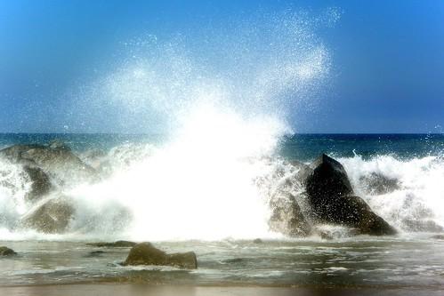 ocean california beach water sand rocks spray pacificocean venicebeach breakwater breakingwaves santamonicabay waterpictorial joelach