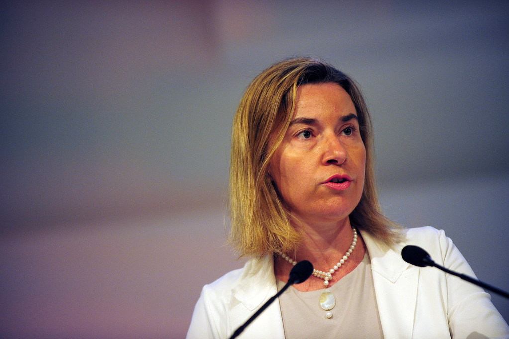 EU High Representative Federica Mogherinji at Shangri-La Dialogue