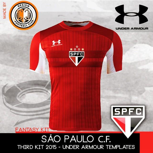 b7411dc709e ... A Under Armour finalmente fez o lançamento dos novos uniformes para o  São Paulo F.C. Seguindo
