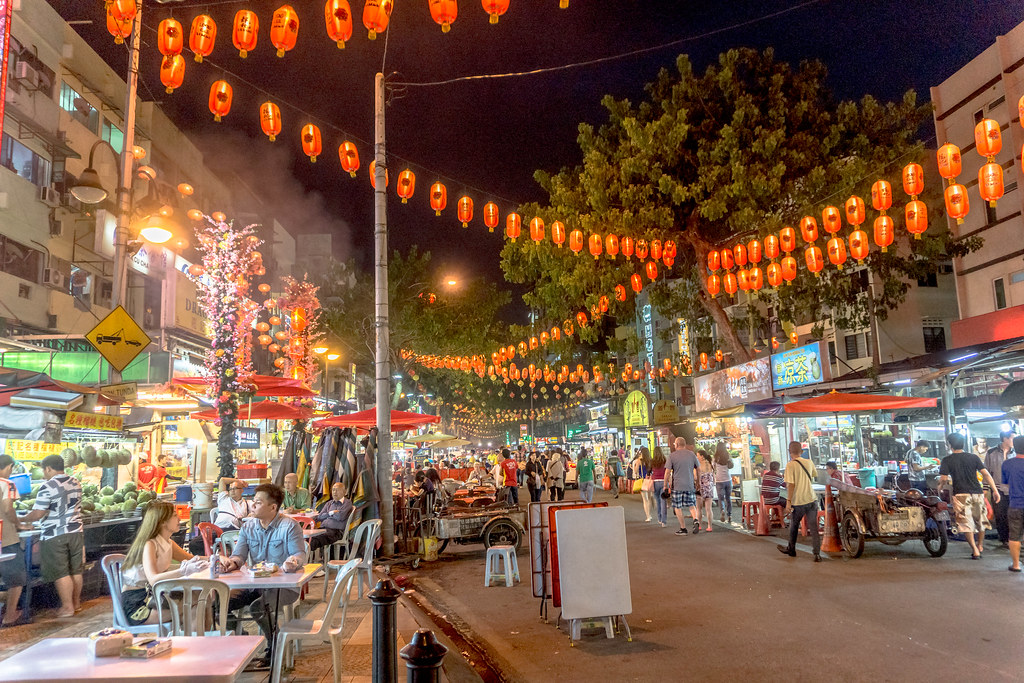 شارع جالان ألور، أحد المناطق السياحية في مدينة كوالالمبور، ماليزيا