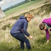 Karine Polwart & Wils Wilson collect moss samples for use in Wind Resistance