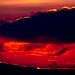 The sunset on Fala Moor, Midlothian