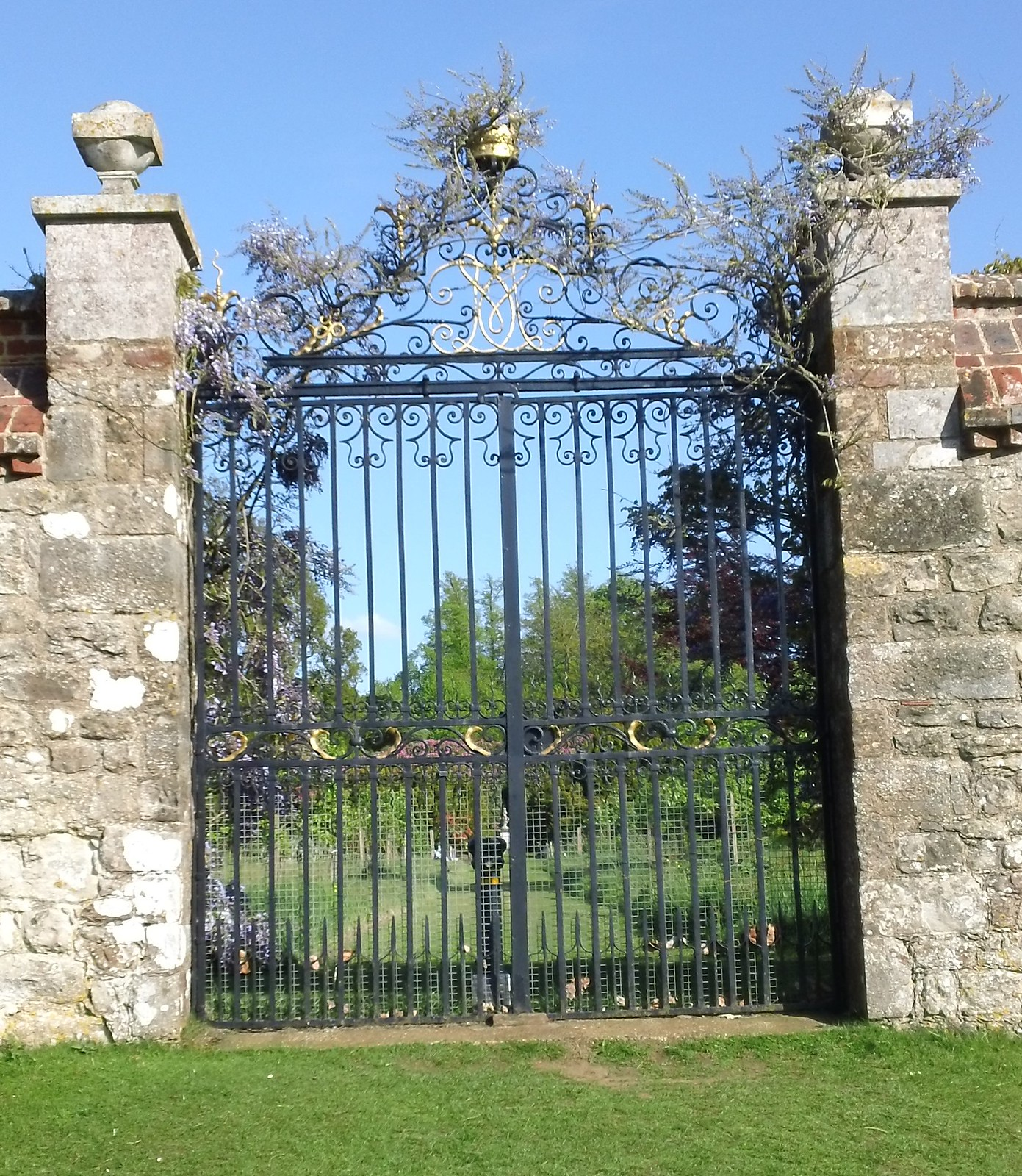 Ornate gate. Knole House
