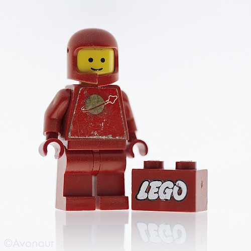Red Lego Spaceman | by Avanaut