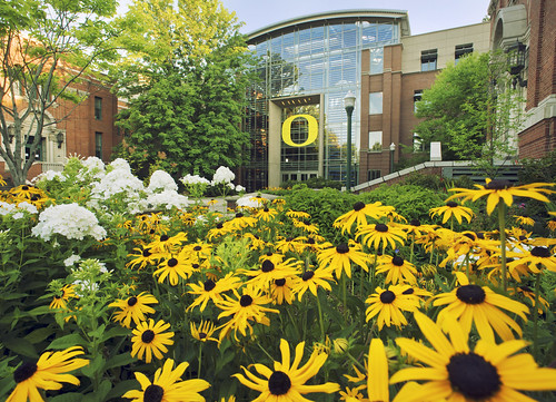 South Entrance with Flowers | by UO Business