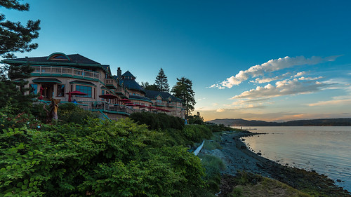 painterslodge landscape scenicsnotjustlandscapes scene scenery scape scenic water ocean sea canada britishcolumbia sunset dusk twilight vacation tourism hotel postcard cloud clouds campbellriver vancouverisland nikon nikkor 1635mmf4vr wideangle uwa ultrawideangle